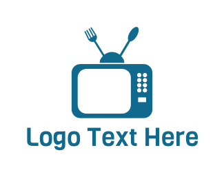 Tv - Food & Media logo design