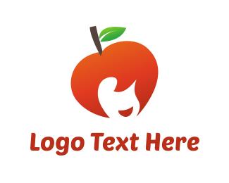 Cherry - Apple Girl logo design