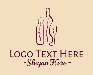 Wine - Minimalist Wine Bottle logo design