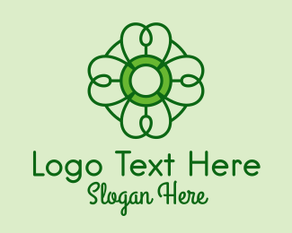 Saint Patrick - Irish Lucky Shamrock logo design