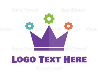 Crown - Gear Crown logo design