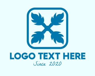 Feather - Blue Feather Symbol logo design