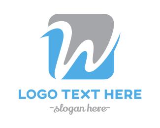 Cursive - Cursive W logo design