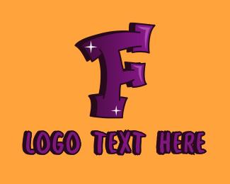 Youth - Graffiti Art Letter F logo design