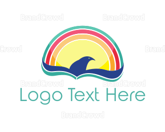Colibri - Rainbow Bird logo design