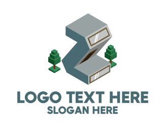 Windows - Modern Building Letter Z logo design