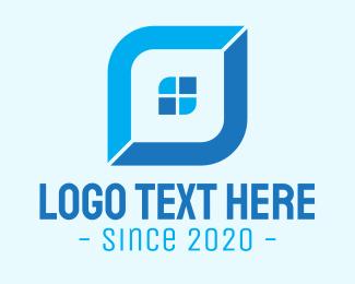 Realtor - Blue Realtor Lettermark logo design