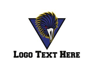 Football - Blue Raven logo design
