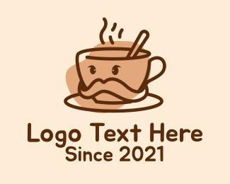 Moustache - Coffee Cup Moustache  logo design