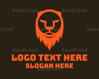 Silhouette - Lion Head Silhouette logo design