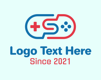 Ps5 - Game Controller Letter S logo design