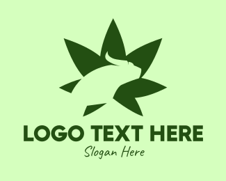 Recreational - Green Bull Cannabis Leaf logo design