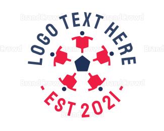 Federation - Soccer Ball Team logo design