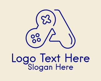 Control Pad - Minimalist Letter A Gaming logo design