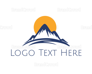 Outdoor - Sun & Mountain logo design