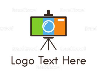 Picture Frame - Easel Camera  logo design