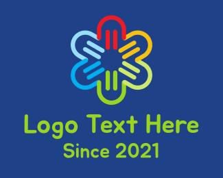 Neon Lights - Neon Flower Shop logo design