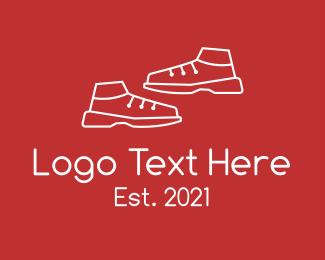 Training - White Training Shoes logo design