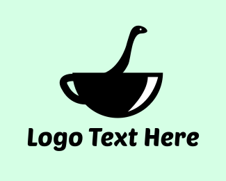 Dinosaur - Monster Coffee logo design