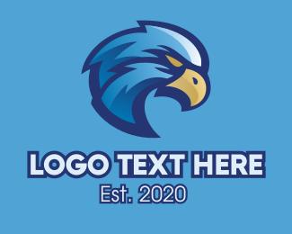 Blue Eagle Sports Mascot Logo