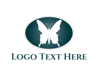Aesthetic - White Butterfly logo design