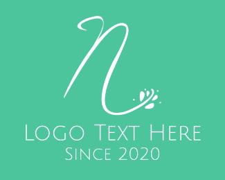 Letter N - Floral Letter N logo design