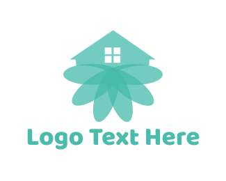 Tree House - Blooming House logo design