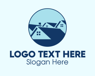 House Listing - Blue House Community logo design