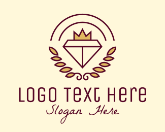 Rhinestone - King Crown Diamond   logo design
