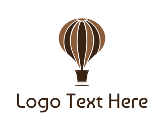 Float - Hot Air Balloon Pot logo design