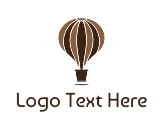Hot Chocolate - Hot Air Balloon Pot logo design