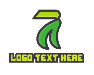 Waste - Modern Eco Number 7 logo design