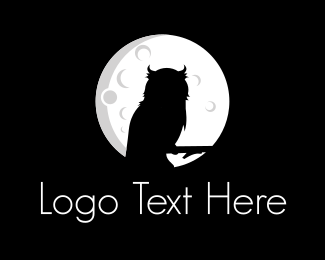 Moon - Night Owl logo design