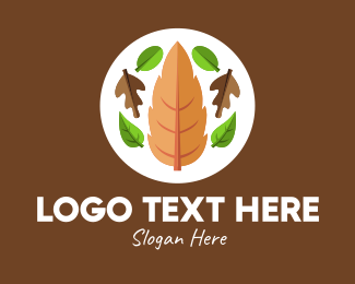 Natural Products - Nature Fall Leaves  logo design