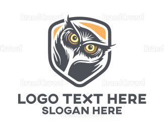 School - Owl Head logo design
