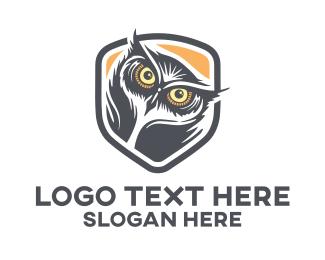 Prey - Owl Head logo design