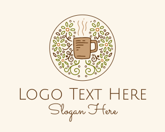 Handcrafted - Organic Teahouse Drink  logo design
