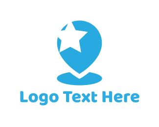 Pin - Star Pin logo design
