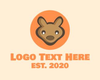Toy - Baby Joey Kangaroo logo design