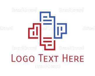Hospital - Medical Files logo design