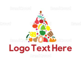 Food Blog - Food Triangle logo design