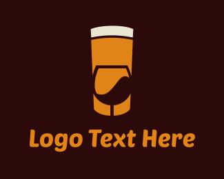 Pub - Beer & Wine logo design