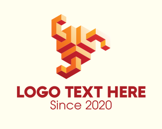 3D Modeling - 3D Abstract Geometric Shape logo design