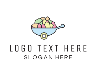 Season - Wheelbarrow Colorful logo design