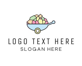 Ecommerce - Wheelbarrow Colorful logo design