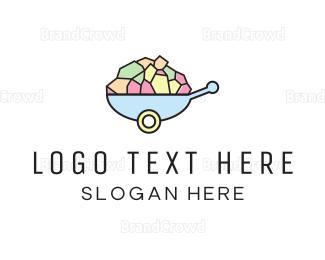 Cart - Wheelbarrow Colorful logo design