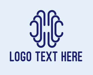Psychotherapy - Abstract Minimalist Brain logo design