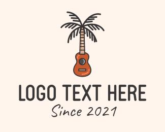 Instrument - Palm Tree Guitar  logo design
