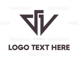 Spear - D & V logo design