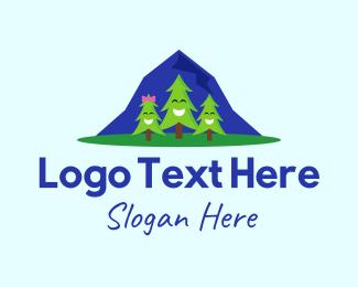 Pine - Happy Pine Trees logo design